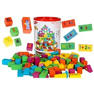 Set of Wooden Coloured Cubes - 100 pieces - Wooden Blocks