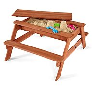 PLUM Wooden Picnic Table 2-in-1 - Sandpit