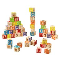 Imaginarium Wooden Cubes with Letters and Numbers - Wooden Blocks