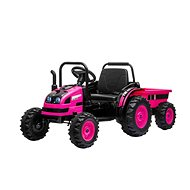 POWER Tractor with Siding, Pink - Children's Electric Car