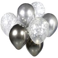 Set of Latex Balloons - Chrome-plated Silver 7 pcs, 30cm - Balloons