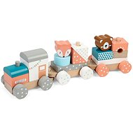 Wooden Train with Animals