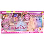 Doll 29cm with a Set of Dresses and Accessories - Doll