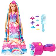 Barbie Dreamtopia Twist 'n Style Princess Hairstyling Doll, Blonde with Rainbow Hair Extensions - Doll