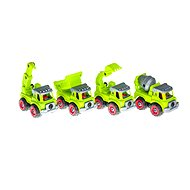 Set of 4 Construction Vehicles with Tools 33x23,5x7,5cm - Toy Car Set