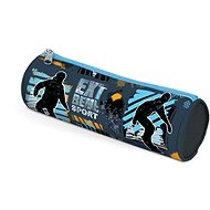 Cylindrical Snowboard Pencil Case
