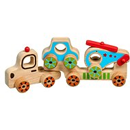 Lucy & Leo 242 My First Truck - Wooden Puzzle 4 pieces - Toy Car