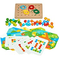 Lucy & Leo 219 Mosaic and Embroidery - Wooden Play Set with Patterns - Motor Skill Toy