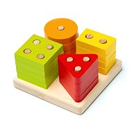 CUBIKA 15344 Sorting Shapes IV - Wooden Puzzle 17 pieces - Puzzle