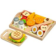 Lucy & Leo 222 Breakfast on a Tray - Wooden Game Set with Magnets - Children's Toy Dishes