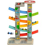 Lucy & Leo 204 Fast Cars - Slide with Wooden Cars and 6 Slides - Baby Toy