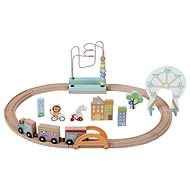 Sun Baby Wooden Tracks with Toys - Wooden Toy