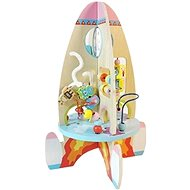 Interactive Wooden Rocket - Baby Toy