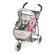 DeCuevas 90331 Collapsible Three-Wheeled Pram for Reborn 2019 Twin Dolls - Doll Stroller