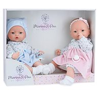 Marina & Pau 573-K Twins dolls - babies with sounds and a soft cloth body - Doll