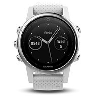 Garmin Fenix ??5S Silver Optic White band - Smartwatch