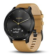 Garmin vívomove HR Premium Onyx Black Tan Suede - Smartwatch