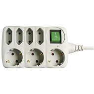 EMOS SCHUKO Extension Cable with switch - 4 + 3 sockets, 1.5m - Extension Cable