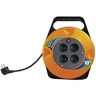 EMOS SCHUKO PVC Extension Cable on reel - 4× sockets, 10m