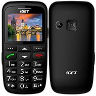 iGET Simple D7 Black - Mobile Phone