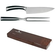 VS KITAKAMI Set of Serving Forks and Knives, Silver - Cutlery