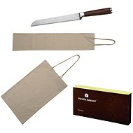 VS ABADAN Set of 2 Cotton Bags for Pastries and Bread and a Knife in a VS Box - Baked Goods Bag