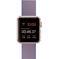 Apple Watch Sport 38mm Rose gold aluminium with royal blue band made of woven nylon - Smartwatch