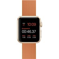 Apple Watch Sport 38mm Gold aluminium with red band made of woven nylon - Smartwatch