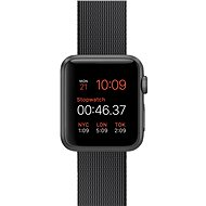 Apple Watch Sport 38mm Space grey aluminium with black band made of woven nylon - Smartwatch