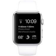 Apple Watch Sport 42mm Silver aluminium with white band - Smartwatch