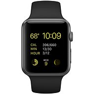 Apple Watch Sport 42mm Space Grey aluminium with a black band - Smartwatch