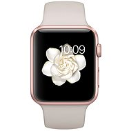 Apple Watch Sport 42mm Rose gold aluminium with stone grey band - Smartwatch