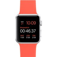 Apple Watch Sport 42mm Silver aluminium with an apricot band - Smartwatch