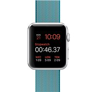 Apple Watch Sport 42mm Silver aluminium with a sea blue band made of woven nylon - Smartwatch
