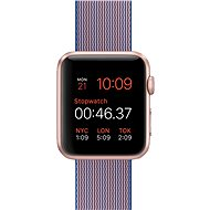 Apple Watch Sport 42mm Rose gold aluminium with royal blue band made of woven nylon - Smartwatch