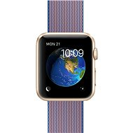 Apple Watch Sport 42mm Gold aluminium with royal blue band made of woven nylon - Smartwatch