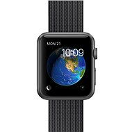 Apple Watch Sport 42mm Space grey aluminium with black band made of woven nylon - Smartwatch