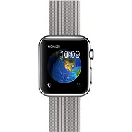 Apple Watch 38mm stainless steel with a pearl-grey band made of woven nylon - Smartwatch