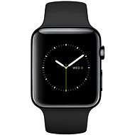 Apple Watch 42mm Stainless Steel Space Black with a black band - Smartwatch