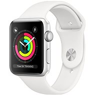 Apple Watch Series 3 42mm GPS Silver Aluminium with White Sports Strap - Smartwatch