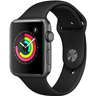Apple Watch Series 3 42mm GPS Space-Gray Aluminum with Black Sports Strap - Smartwatch