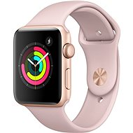 Apple Watch Series 3 42mm GPS Gold aluminum with sandy pink sports strap - Smartwatch