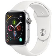 Apple Watch Series 4 44mm Silver Aluminium Case with White Sport Band - Smartwatch