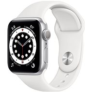 Apple Watch Series 6 40mm Silver Aluminium with White Sports Strap - Smartwatch