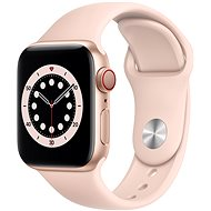 Apple Watch Series 6 40mm Cellular Gold Aluminium with Pink Sand Sport Band - Smartwatch