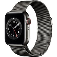 Apple Watch Series 6 40mm Cellular Graphite Stainless Steel with Graphite Milanese Loop - Smartwatch