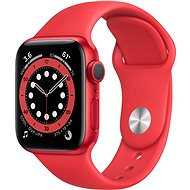 Apple Watch Series 6 44mm Red Aluminium with Red Sports Strap - Smartwatch