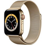 Apple Watch Series 6 44mm Cellular Gold Stainless Steel with Gold Milanese Loop - Smartwatch