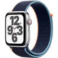 Apple Watch SE 44mm Cellular Silver Aluminium with Navy Blue Sports Strap - Smartwatch
