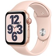 Apple Watch SE 44mm Cellular Gold Aluminium with Sand-pink Sports Strap - Smartwatch